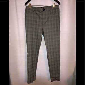 Zara straight leg plaid dress pants